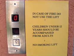 No Smoking Lift